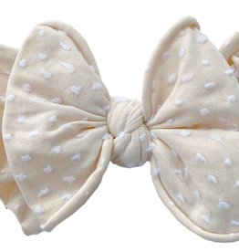 Baby Bling Bows SHAB-BOW-LOUS Skinny:  Oatmeal dot
