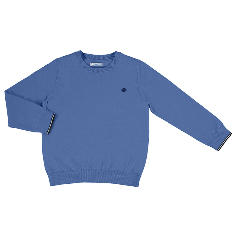 Mayoral Boys Crew Neck Sweater, Waves Blue