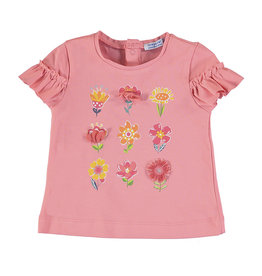 Mayoral Baby Girl Short Sleeve Pink Floral T-shirt