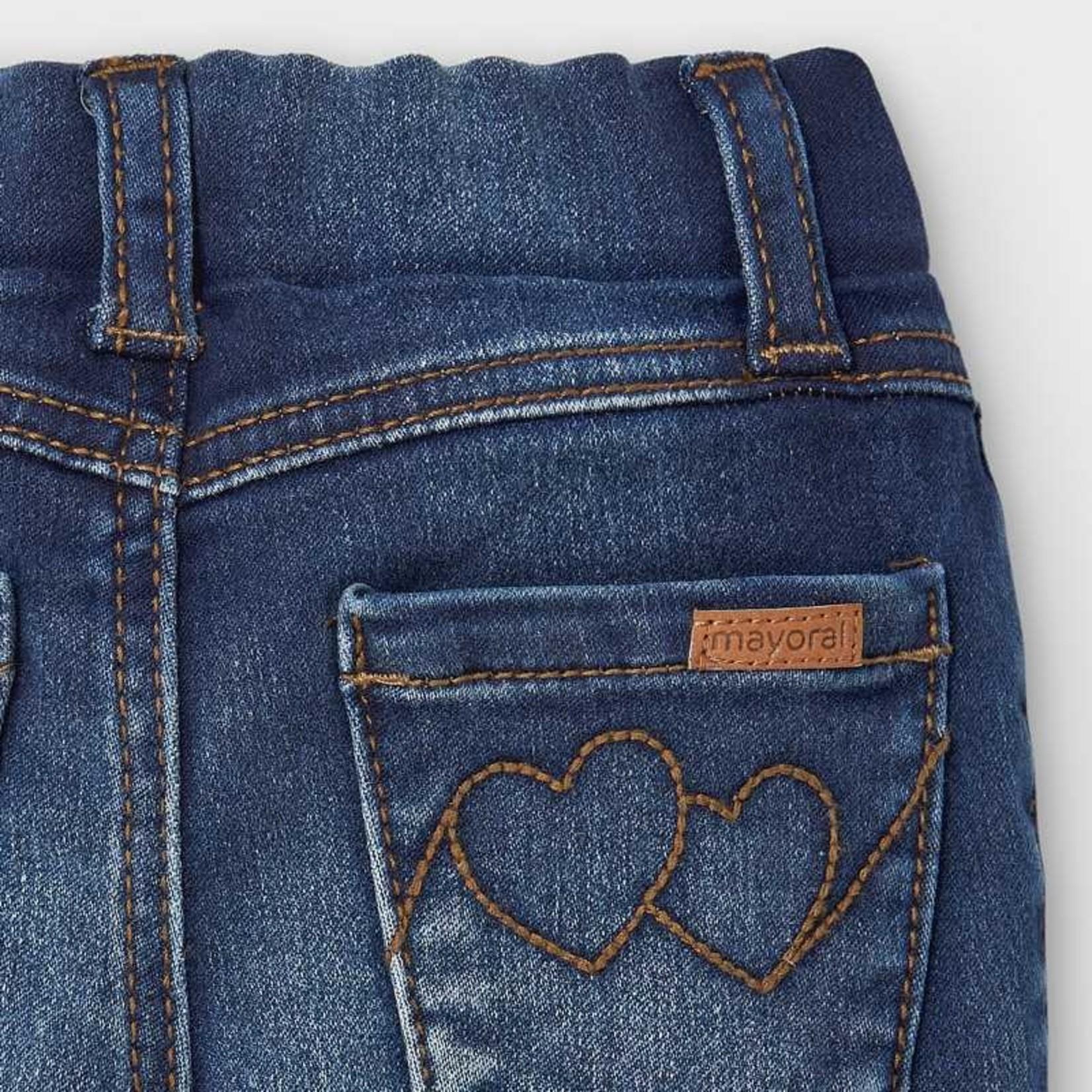 Mayoral Basic Dark Denim Baby Girl Jeans