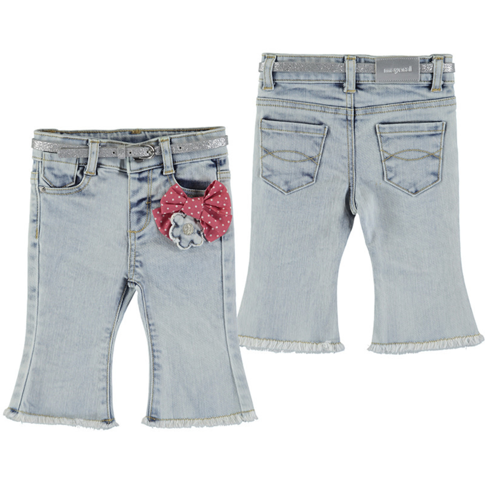 Mayoral Baby Girl Bleached Denim  Jeans