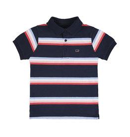 Mayoral Boys Short Sleeve Polo - Navy Stripe