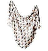 Copper Pearl Knit Blanket - Bison