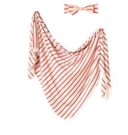 Copper Pearl Knit Blanket + Headband Cinnamon Set