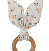 Chewable Charm Crinkle Bunny Ears Teether- Poppy