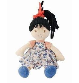 Tikiri Toys Tracey Lu - Black Hair with Blue Print Dress