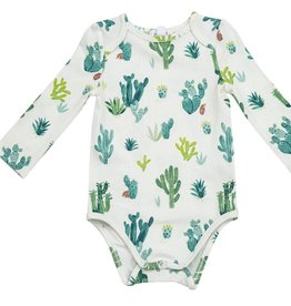 Angel Dear Lap Shoulder Bodysuit, Ivory Cactus