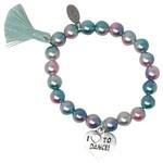 Zomi Gems Love to Dance Pearl Bead Bracelet