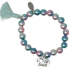 Zomi Gems Love to Dance Pearl Bead Bracelet
