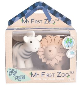 Tikiri Toys My First Zoo - Zebra & Lion Teether Set