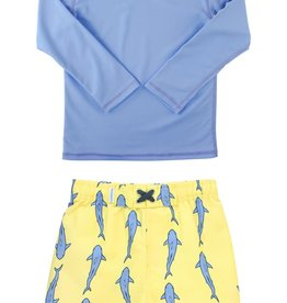 RuggedButts Jawsome Swim Trunks & Rashguard Set (Baby and Toddler)
