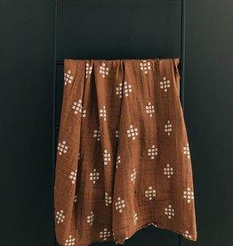 Mebie Baby Chestnut Textiles Muslin Swaddle Blanket