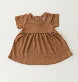 Mebie Baby Ribbed Dress - Mustard