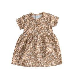 Mebie Baby Mustard Floral Cotton Dress