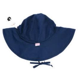 RuffleButts Navy Sun Protective Hat