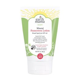 Earth Mama Organics Baby Mineral Sunscreen Lotion - SPF 40