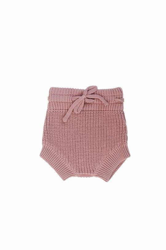 Mebie Baby Knit Bloomers Blush 6-12M