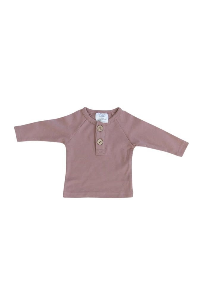Mebie Baby Blush Long Sleeve Button Top 18M