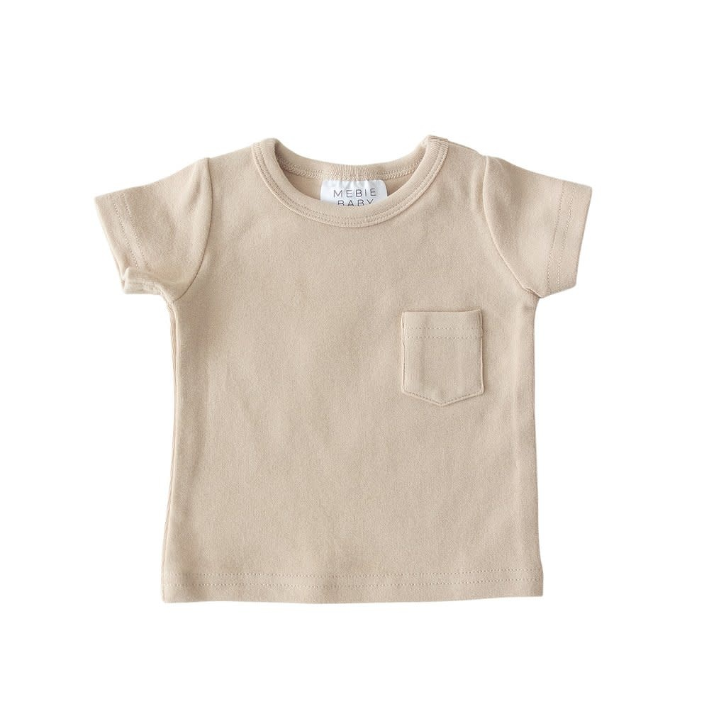 Mebie Baby Cotton Pocket Tee - Oat