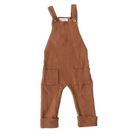 Mebie Baby Knit Overalls - Rust