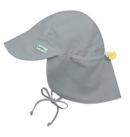 Green Sprouts, Inc. Flap Sun Protection Hat - Solid Grey