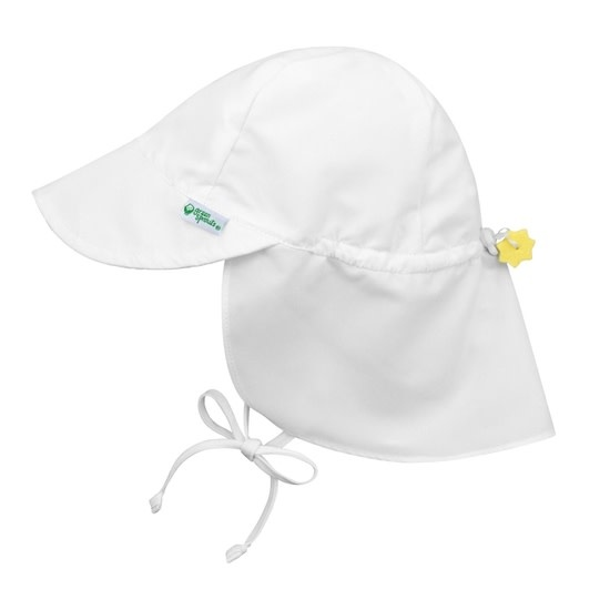 Green Sprouts, Inc. Flap Sun Protection Hat - Solid White