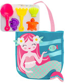 Stephen Joseph Gifts Beach Tote with Sand Toys  Mermaid Teal