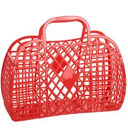 Sun Jellies Retro Basket - Large Red