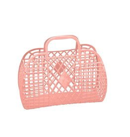 Sun Jellies Retro Basket - Large Peach