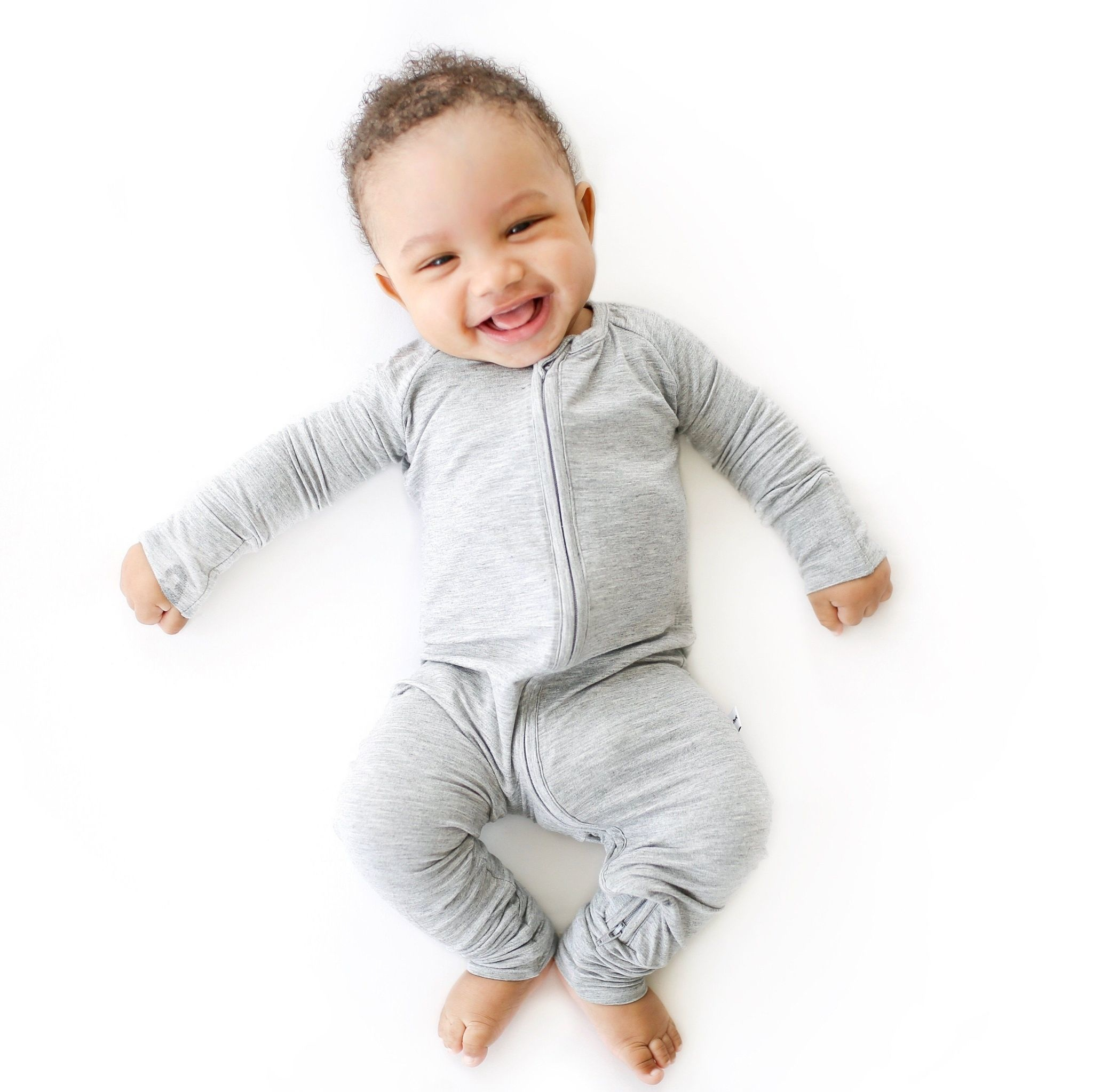 Little Sleepies Convertible Romper/Sleeper Heather Gray