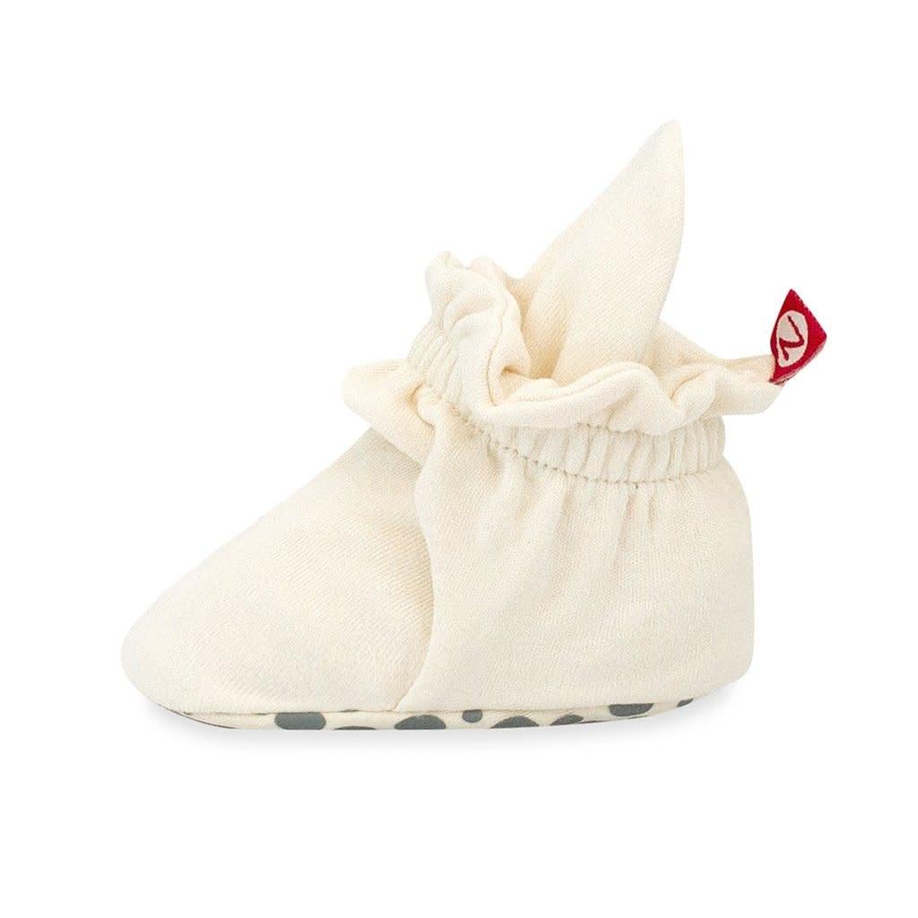 Zutano Cotton Gripper Bootie - Cream 3M