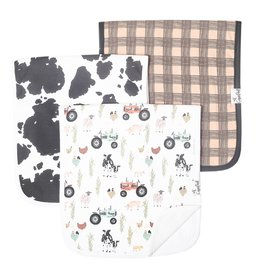 Copper Pearl Burp Cloths (3 pack) - Jo Farm