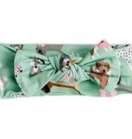Little Sleepies Puppy Love (Pink Trim) Bow Headband