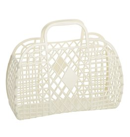 Sun Jellies Retro Basket - Large Cream