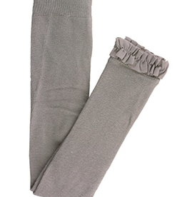 RuffleButts Footless Ruffle Tights, Gray
