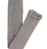 RuffleButts Footless Ruffle Tights, Gray