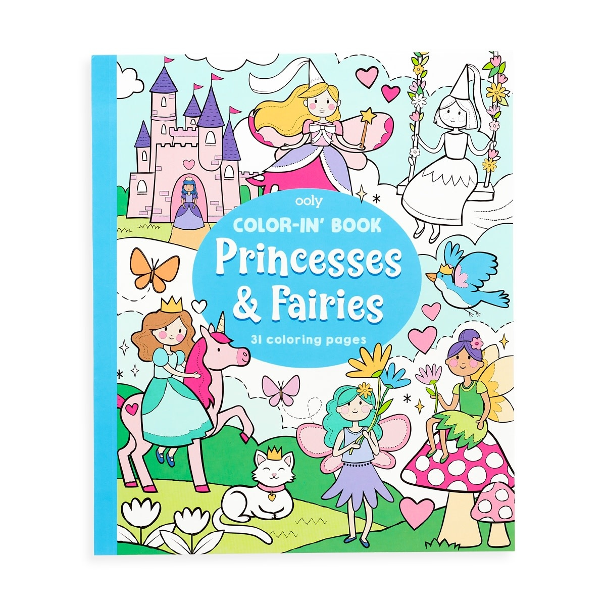 Ooly Color-in' Book - Princesses & Fairies