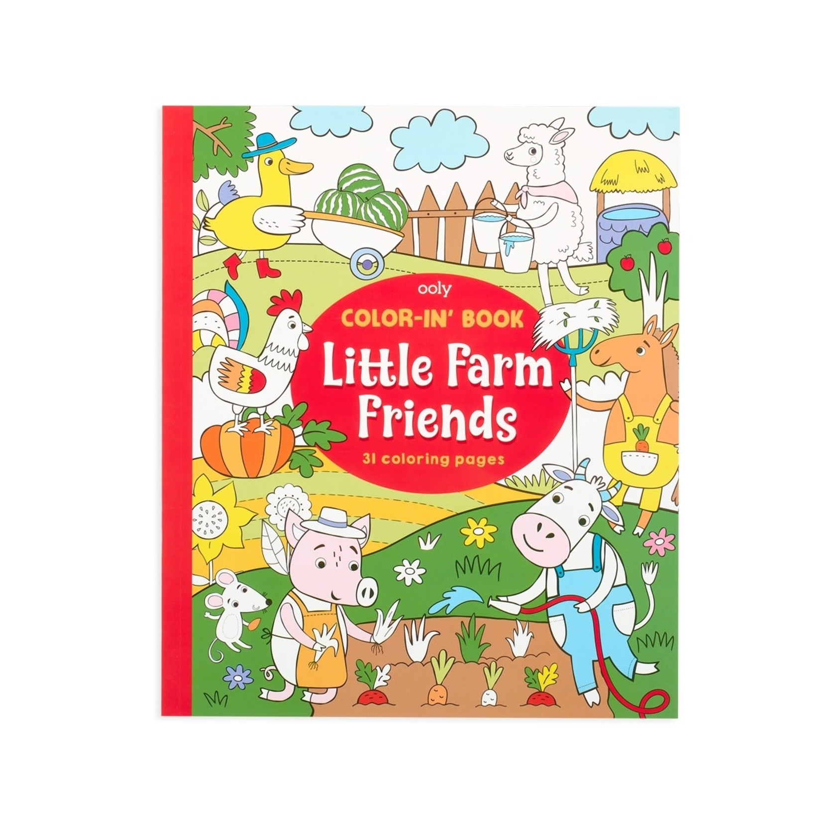 """Ooly Color-in' Book: Little Farm Friends (8"""" x 10"""")"""