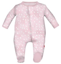 Magnetic Me Pink Doeskin Modal Magnetic Footie Newborn