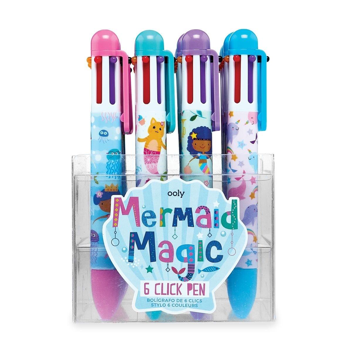 Ooly 6 Click Pens: Mermaid Magic