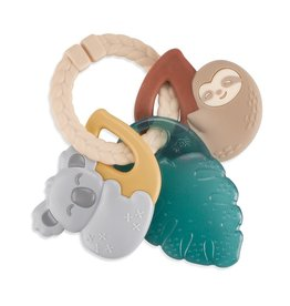Itzy Ritzy Tropical Itzy Keys Textured Ring with Teether + Rattle