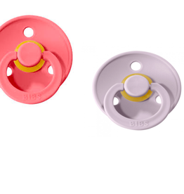 Bibs Pacifier 2 PK Dusky Lilac and Coral
