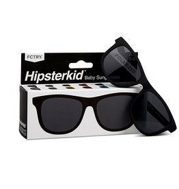 FCTRY Hipsterkid Classics Wayfarer Baby Sunglasses, Black (0-2y)