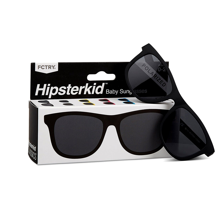 FCTRY Hipsterkid Classics Wayfarer Baby Sunglasses, Black (0-2y)