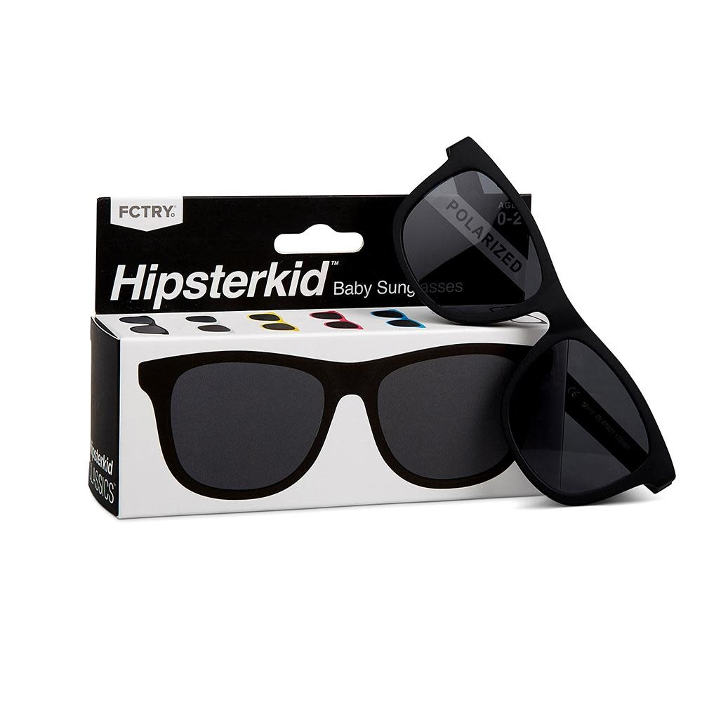FCTRY Hipsterkid Classics Wayfarer Kids Sunglasses, Black (3-6y)
