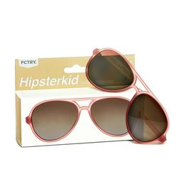 FCTRY Hipsterkid Golds Aviator Kids Sunglasses, Rose (3-6y)