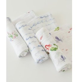 Little Unicorn Cotton Swaddle 3-Pack - Mermaid