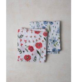 Little Unicorn Organic Cotton Muslin Swaddle 2 pack - Summer Poppy