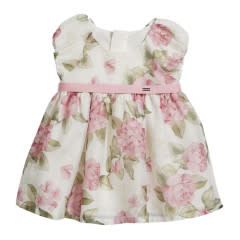 Mayoral Dress Baby Girl - Roses Pink 12 Months