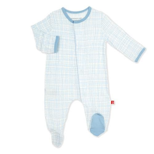 Magnetic Me Greenwich Plaid Modal Magnetic Footie